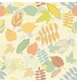 Vintage autumn seamless pattern vector image
