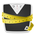 Weights tape measure vector image