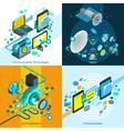 Telecom Isometric 2x2 Design Concept vector image