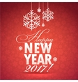 Happy New Year Greeting Card Background with vector image