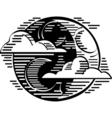 Moon night logo vector image vector image