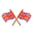 Great Britain flag icon cartoon style vector image