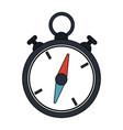 color image cartoon stopwatch icon vector image