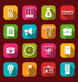 group simple and trendy flat icons of business and vector image vector image