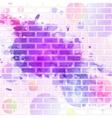 brick wall graffiti vector image vector image