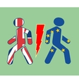 Britain exit from European Union vector image