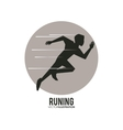 Running design fitness concept white background vector image