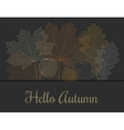 Autumn invitation or greeting card vector image