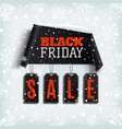 Black friday sale curved paper banner with black vector image