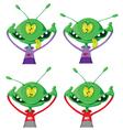 Crazy alien set vector image