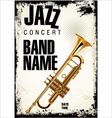 Jazz concert background vector image