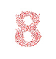 Romantic floral number 8 vector image