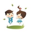 School boy and girl vector image