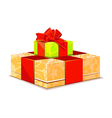 two colorful gift box on white background vector image