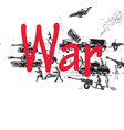 war pattern vector image