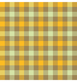 Yellow beige check tablecloth seamless pattern vector image
