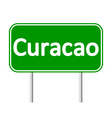 Curacao road sign vector image