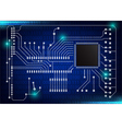 closeup of electronic circuit board vector image