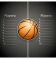 Poster Template of Basketball Ball vector image