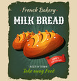 retro milk bread poster vector image