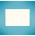 Empty three fold brochure leaflet flyer design vector image