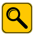 Search sign button vector image