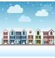 cityscape winter vector image
