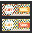 Gift voucher templates modern design vector image