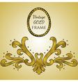 Gold foil vintage frame vector image