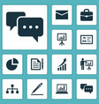 job icons set collection of envelope chatting vector image
