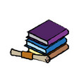 pile of books education diploma school concept vector image