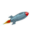 rocket missile flying pop art style vector image