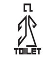 Toilet sign9 vector image