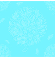 White Tree on Blue Background vector image