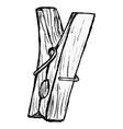 clothes pegs vector image vector image