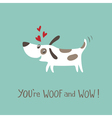 Woof and WOW vector image vector image