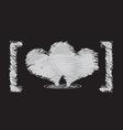 heart sketch design vector image vector image