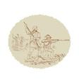 American Civil War confederate soldier fighting vector image