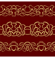 Collection of gold floral seamless border vector image vector image