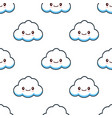 cute cloud characters kawaii seamless pattern flat vector image