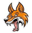 cartoon of bad fox vector image vector image