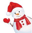 snowman cartoon vector image vector image