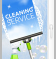 Window cleaning vector image