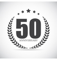 Template Logo 50 Years Anniversary vector image