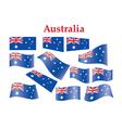 Australia flags vector image vector image
