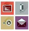 Concept flat icons with long shadow banking vector image