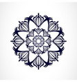 Abstract dark ornament vector image