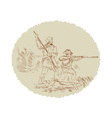 American Civil War confederate soldier fighting vector image