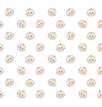 Baby faces pattern on white background vector image