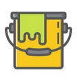 bucket of paint filled outline icon build repair vector image